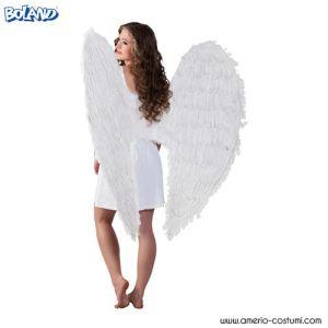 ALI ANGELO in piume - 120x120 cm - BIANCHE