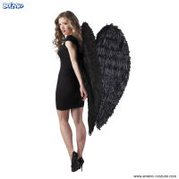 ALI ANGELO in piume - 120x120 cm - NERE