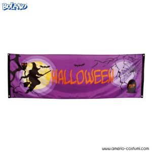 "BANNER ""MIDNIGHT MOON HALLOWEEN"""