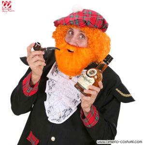 Barbe avec moustache - Orange