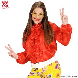 Camicia Donna con ruches - ROSSA