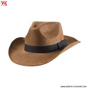 Trapper Cappello Peluche Accessorio per cacciatore Cowboy Selvaggio West Costume