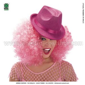 Cappello GANGSTER IN LUREX ROSA