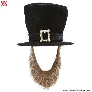 Sombrero de Copa alta con Barba - Terciopelo Negro
