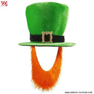 Sombrero de Copa alta con Barba - Terciopelo Verde