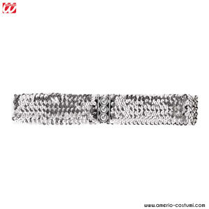 SEQUIN BELT - Silver