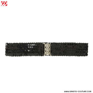 SEQUIN BELT - Black