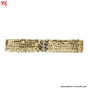 SEQUIN BELT - Gold