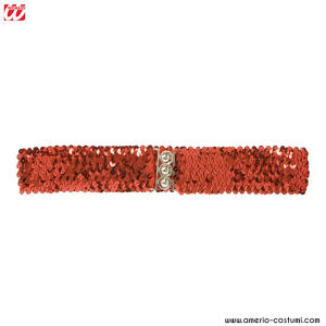 SEQUIN BELT - Red