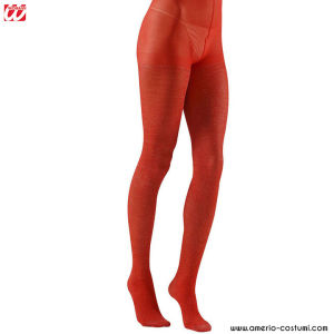 RED GLITTER PANTYHOSE - 40 DEN