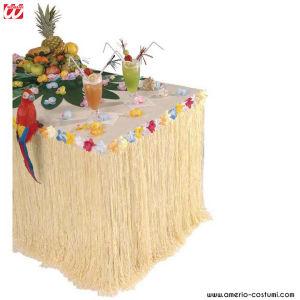 TABLE DÉCO TROPICAL AVEC FLEURS - 275x75 cm