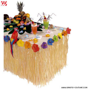 TROPICAL TABLE DECO WITH HIBISCUS FLOWERS