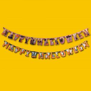 "FESTONE ""HAPPY HALLOWEEN"" IN CARTA - 17,5x220 cm"