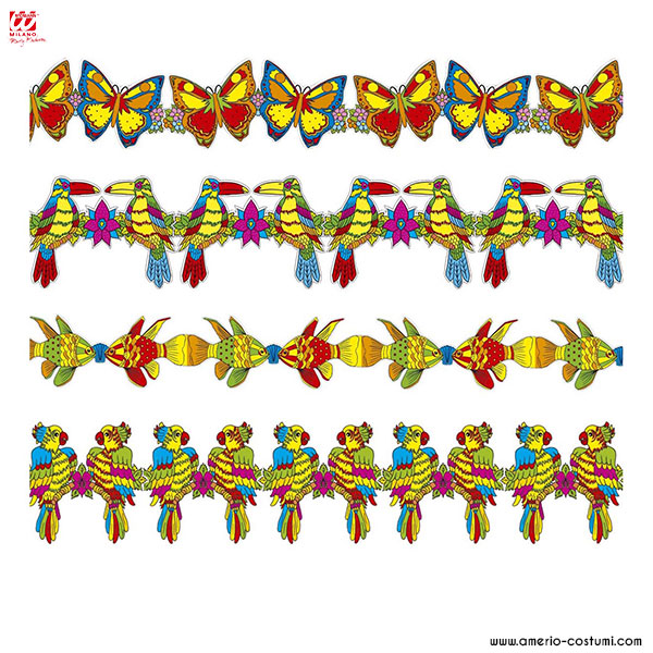 Guirnalda de fiesta tropical - 3 m