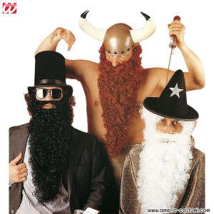 Maxi barba con bigote - Roja