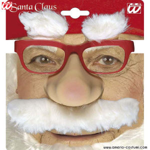 SANTA CLAUS GLASSES with nose, moustache and eyebrows