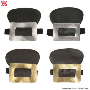 SHOE BUCKLES LEATHERLOOK - Av. 2 col.