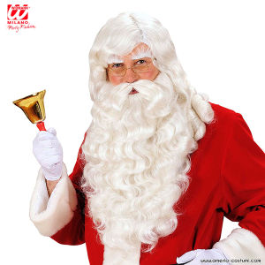SANTA CLAUS WIG WITH BEARD, MOUSTACHE & EYEBROWS