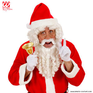 DELUXE SANTA CLAUS CURLY LOCKS WIG WITH BEARD, MOUSTACHE & EYEBROWS