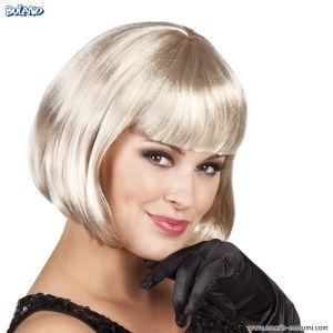 Perucă CABARET - Blondă Platinată.