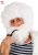 CHARACTER CURLY WIG & BEARD - White