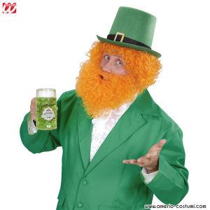 Parrucca e barba riccia - Arancione