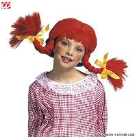 Parrucca NAUGHTY GIRL CON TRECCE MODELLABILI - Bambina