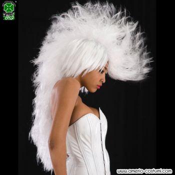 Parrucca WHITE PUNK