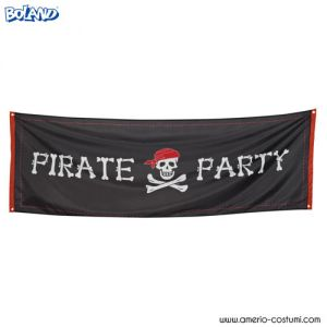 BANNER 'PIRATE PARTY' - 220x74 cm