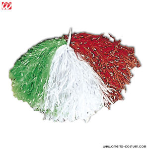 Pom Pom - GREEN/WHITE/RED