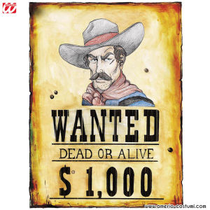 """POSTER """"WANTED"""" 38x50 cm"""