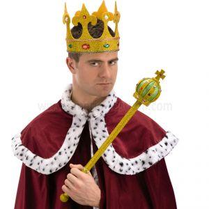 Sceptrul regelui cu sclipici auriu - 55 cm
