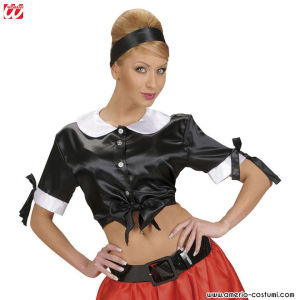 TIE TOP NERO IN RASO - Tg. XL