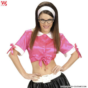 TIE TOP ROSA IN RASO - Tg. XL