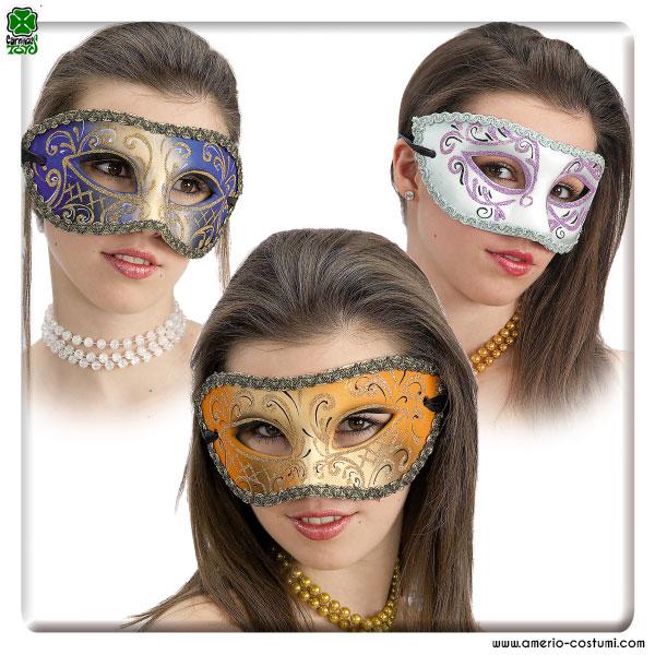 Maschera IN CARTAPESTA DECORATA - disp. 3 col.