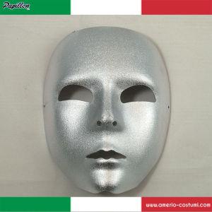 Maschera VISO METALLIZZATO LARGE - ARGENTO
