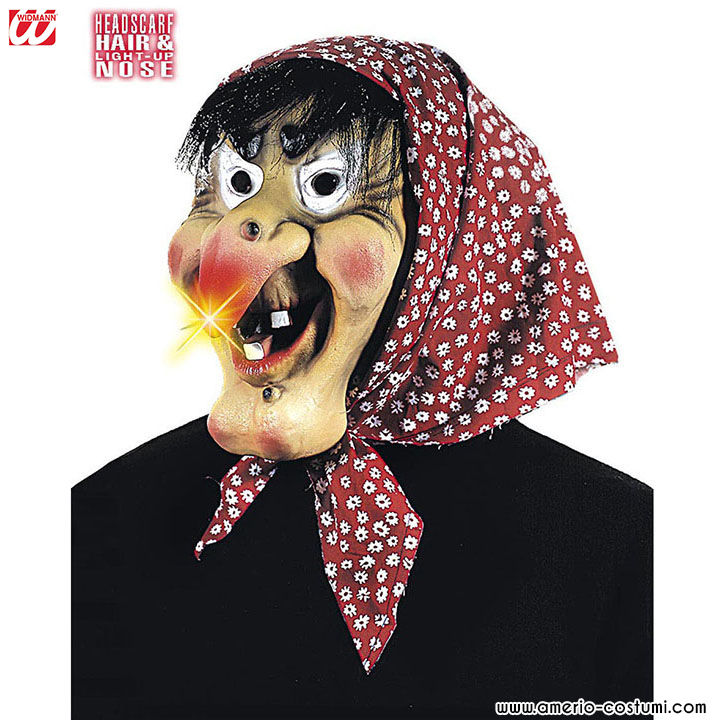Maschera STREGA CON NASO LUMINOSO b60160708a88
