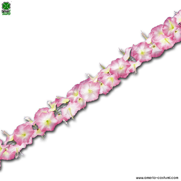 FESTONE HAWAII IN STOFFA ROSA - 210 cm