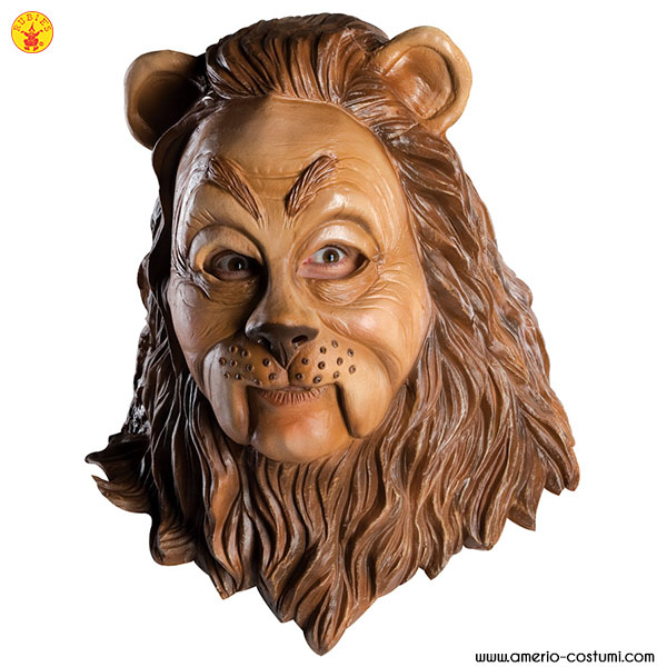 COWARDLY LION™ OVERHEAD LATEX MASK ADULT