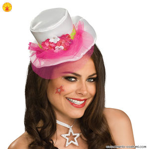 WH MINI TOP HAT W/PK VEIL
