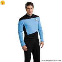 STAR TREK™ DLX. BLUE SHIRT COMMAND UNIFO