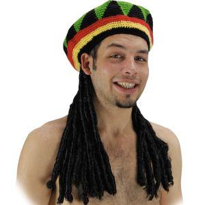 Cappello RASTA CON CAPELLI