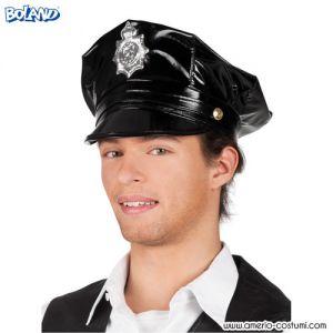 Cappello POLIZIOTTO NERO LUCIDO
