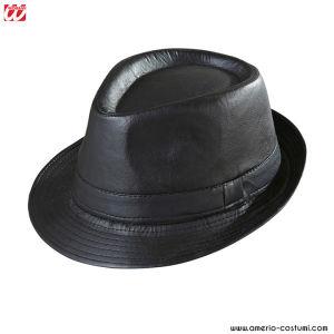 Cappello FEDORA NERO SIMILPELLE