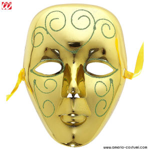 GOLD MASK WITH GLITTER