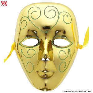 Maschera ORO CON GLITTER IN PLASTICA