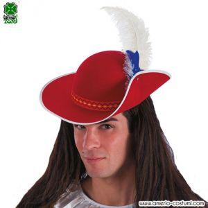 Cappello MOSCHETTIERE - ROSSO