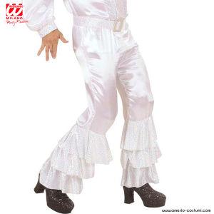 Pantaloni con pailettes olografiche - BIANCHI