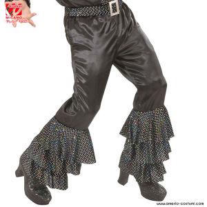 Pantaloni con pailettes olografiche - NERI