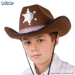 Cappello Cowboy Sceriffo Jr - Marrone
